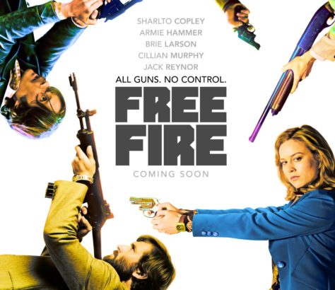 Set in Boston, 'Free Fire' was directed by Ben Wheatley. A brokered meeting between two Irishmen and a gang selling a stash of guns goes awry.