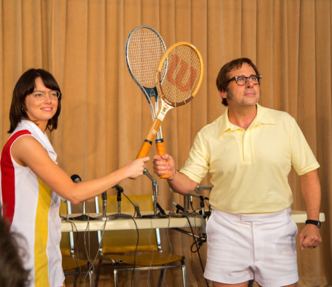 Journey to 1973 in 'Battle of the Sexes' and witness the now-infamous tennis match between Billie Jean King and Bobby Riggs.