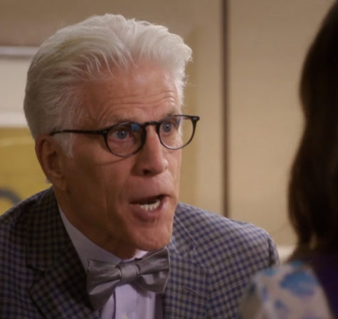 """Derek"", the mid-season finale of 'The Good Place' was a weak offering saved by the ever-delightful mischief of demigod Ted Danson."