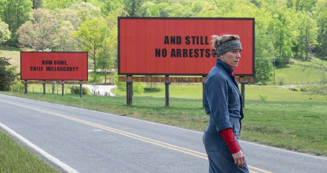 McDormand channels a modern, female variant of the classic western hero in Martin McDonagh's darkly comedic 'Three Billboards Outside Ebbing, Missouri'.