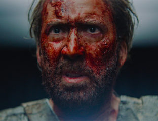 "Nicolas Cage was at his Nicolas Cagiest in the gory action movie 'Mandy', which premiered at this year's Sundance Film Festival. Indiewire gave it a B+, describing Cage's performance as ""batshit crazy""."