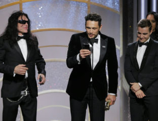 "The real-life disaster artist Tommy Wiseau has revealed what he really wanted to say on stage at the Golden Globes before being pushed aside by star-director James Franco. Spoiler: it's not, ""you're tearing me apart Lisa!"""