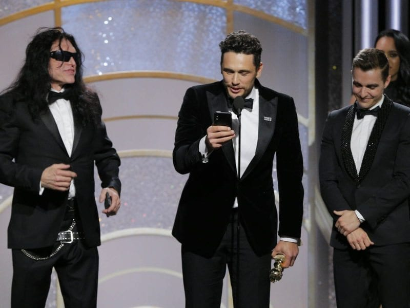 """The real-life disaster artist Tommy Wiseau has revealed what he really wanted to say on stage at the Golden Globes before being pushed aside by star-director James Franco. Spoiler: it's not, """"you're tearing me apart Lisa!"""""""