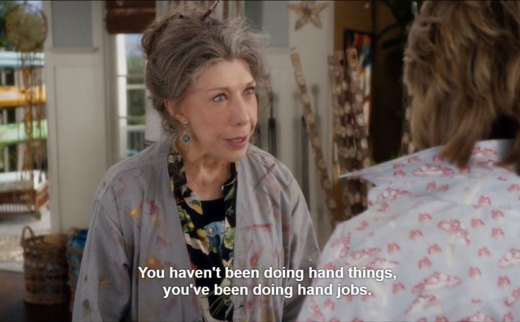 10 times 39 grace and frankie 39 savagely nailed female friendship film daily. Black Bedroom Furniture Sets. Home Design Ideas