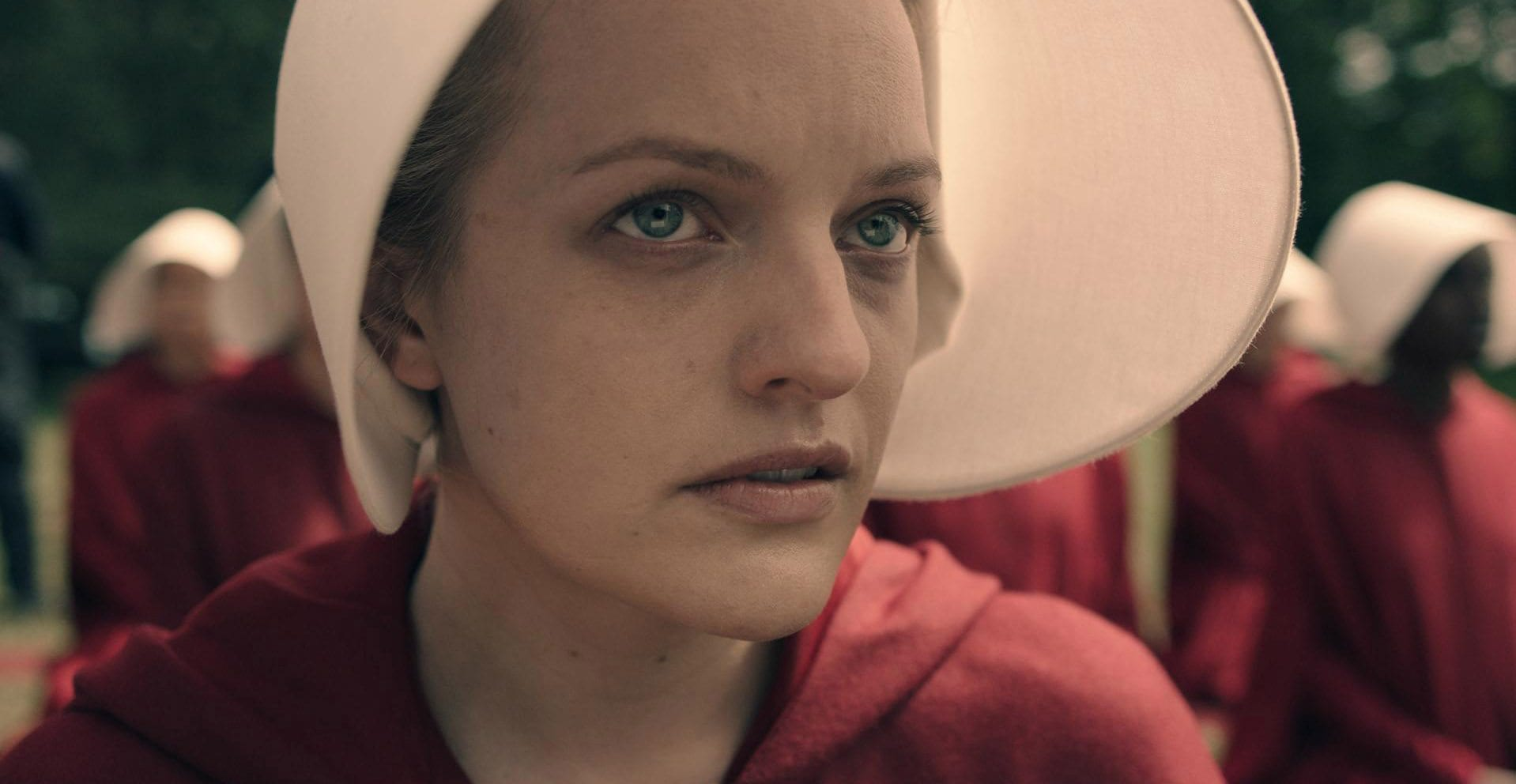 'The Handmaid's Tale' is set in a society ruled by a fundamentalist regime in which the few remaining fertile women are forced into sexual servitude.