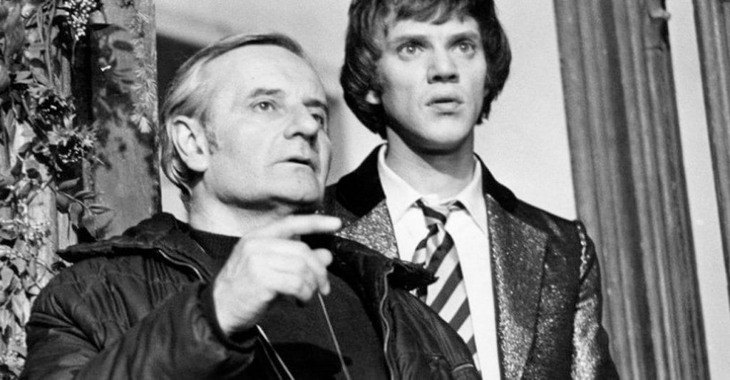 Lindsay Anderson and Malcolm McDowell