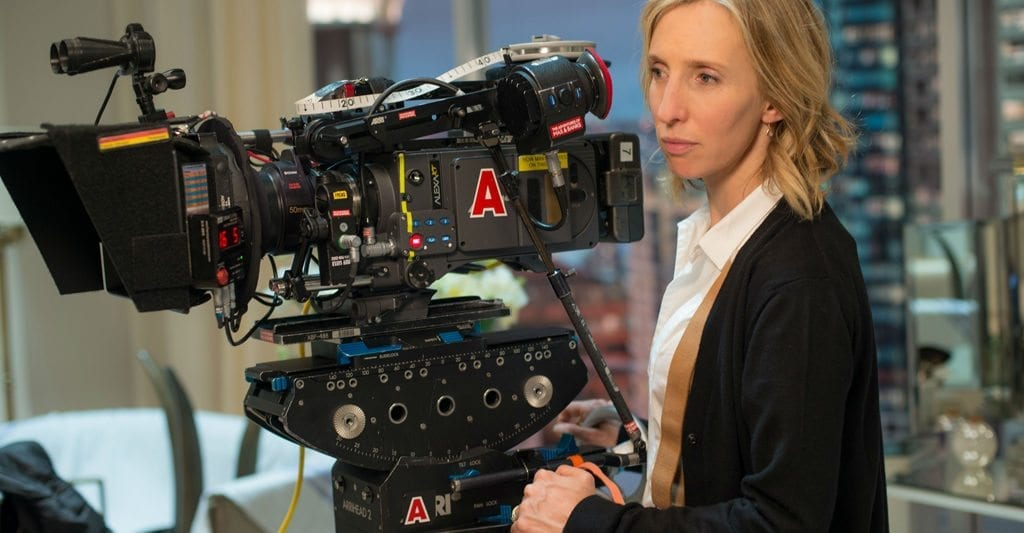 Sam Taylor-Johnson on the set of 'Fifty Shades of Grey'