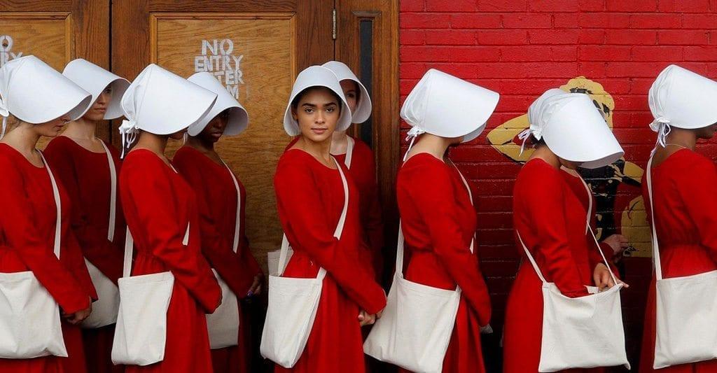 Hulu's 'The Handmaid's Tale' flashmob at SXSW