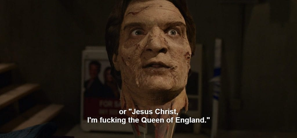 """or """"Jesus Christ, I'm fucking the Queen of England."""""""