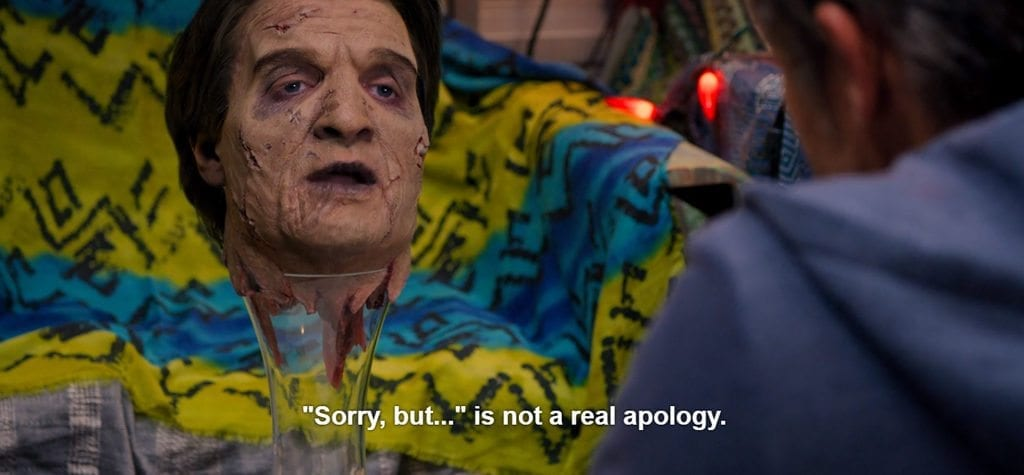 """""""Sorry, but..."""" is not a real apology."""