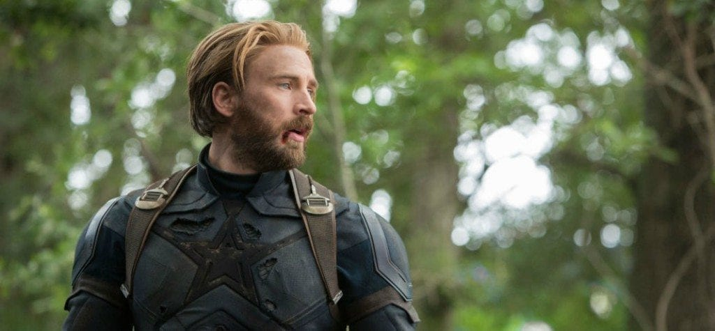 Chris Evans as Captain America in 'Avengers: Infinity War'