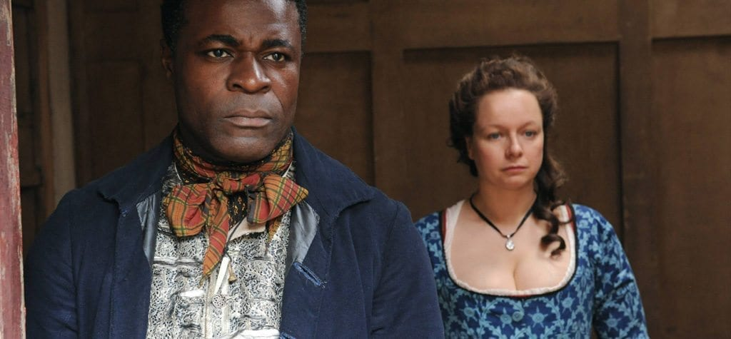Danny Sapani and Samantha Morton in 'Harlots'