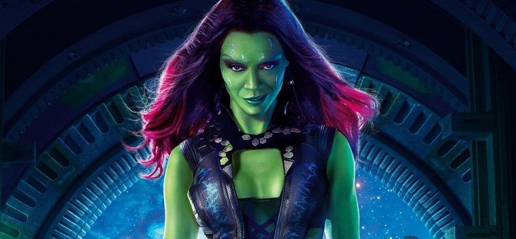 Zoe Saldana as Gamora in 'Guardians of the Galaxy'