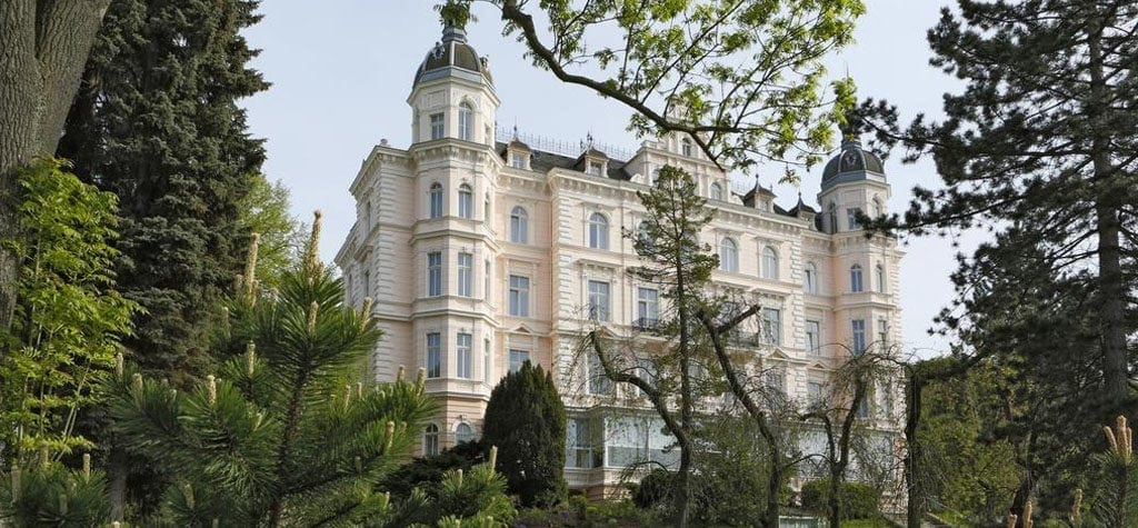 Listen to a stranger's life story at Hotel Bristol Palace from 'The Grand Budapest Hotel'