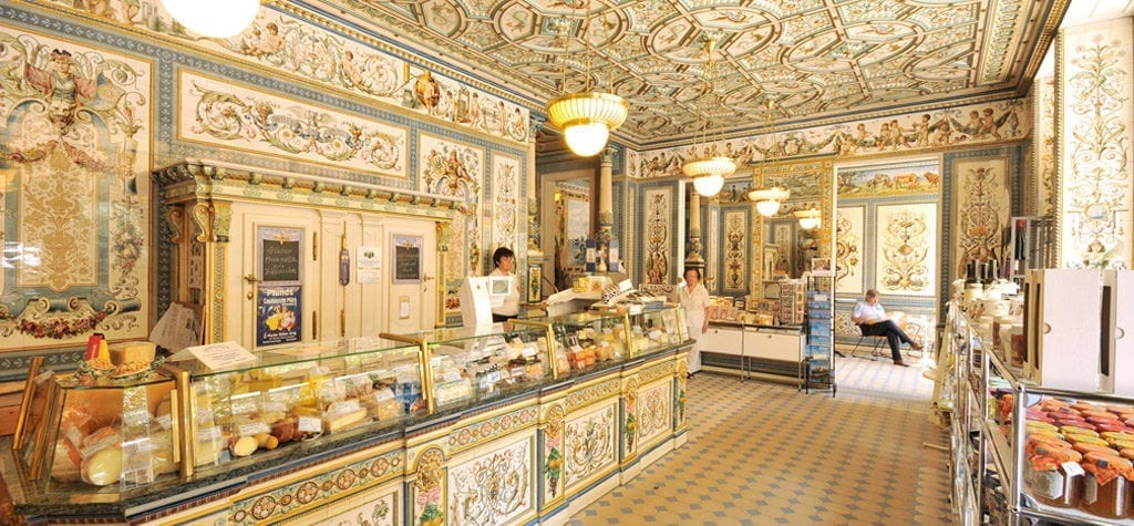 Muse upon Mendl's genius at Pfunds Molkerei from 'The Grand Budapest Hotel'