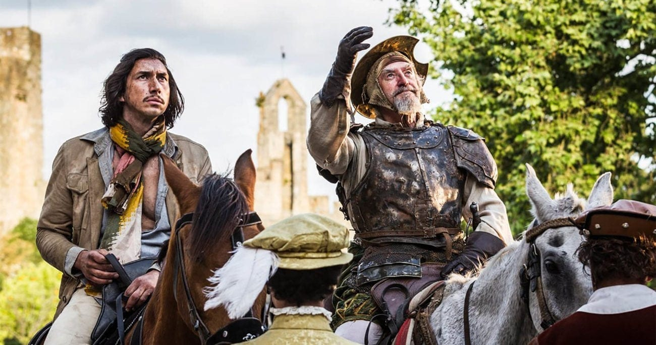 Directed by Terry Gilliam, 'The Man Who Killed Don Quixote' stars Adam Driver, Jonathan Pryce, Stellan Skarsgård, Olga Kurylenko, and Jason Watkins.