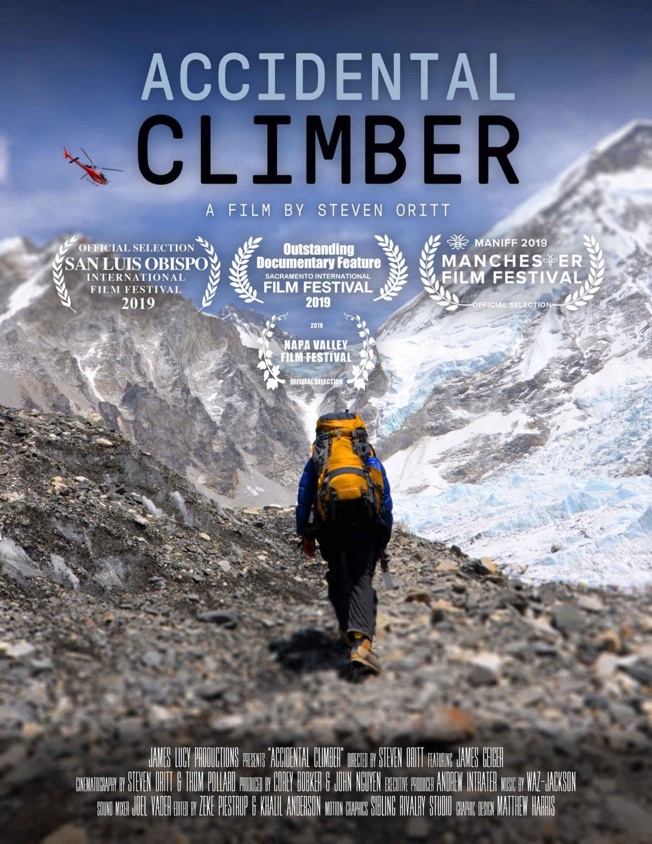 We highlight Steven Oritt's documentary 'Accidental Climber' in advance of its Australian premiere at the Melbourne Documentary Film Festival.