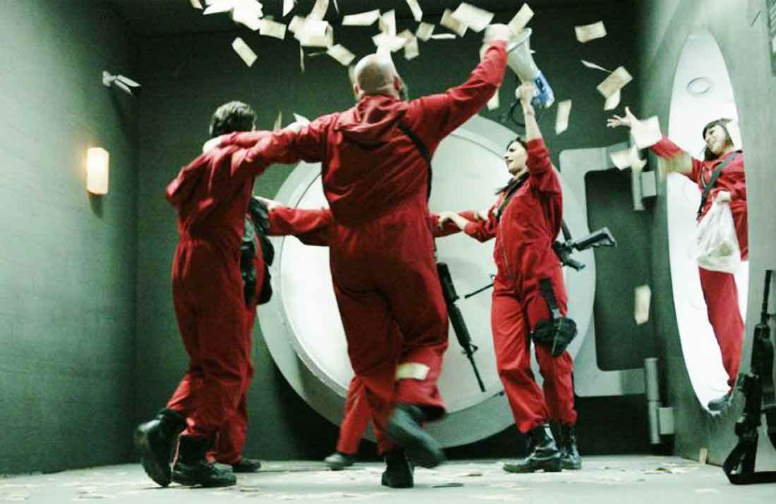 Netflix's deservedly big hit 'Money Heist' will surely be continued. Here are our favorite real-life heists that are perfect fodder for the gripping show.