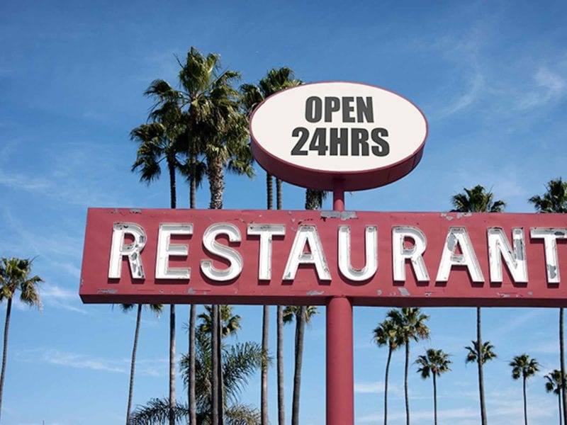 No matter the time of day, the characters we love can find someplace to eat, think, or fight. Here are the top 10 restaraunts in LA from TV and film.