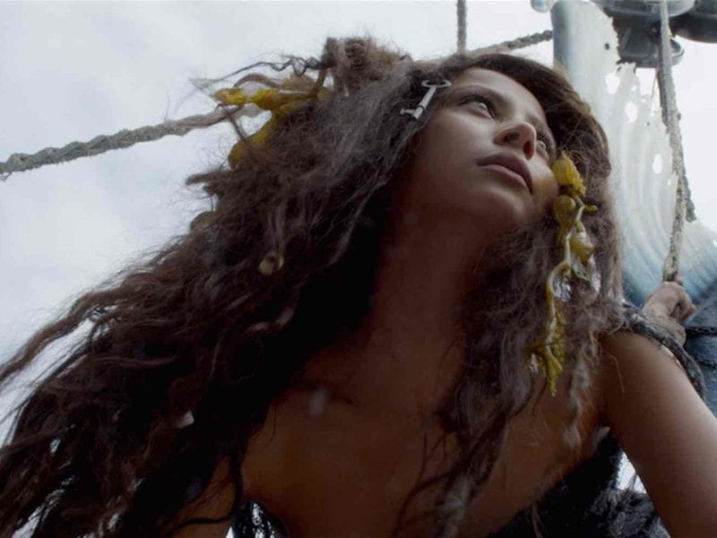 'Mermaid Down' is about a mermaid (Alexandra Bokova) ripped from the ocean. Here's our interview with the mermaid herself.