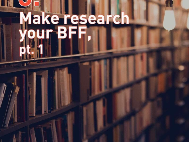 Everyone does it, and every producer can always tell. We teach you how to research like a boss and make your screenwriting sound goooooood.