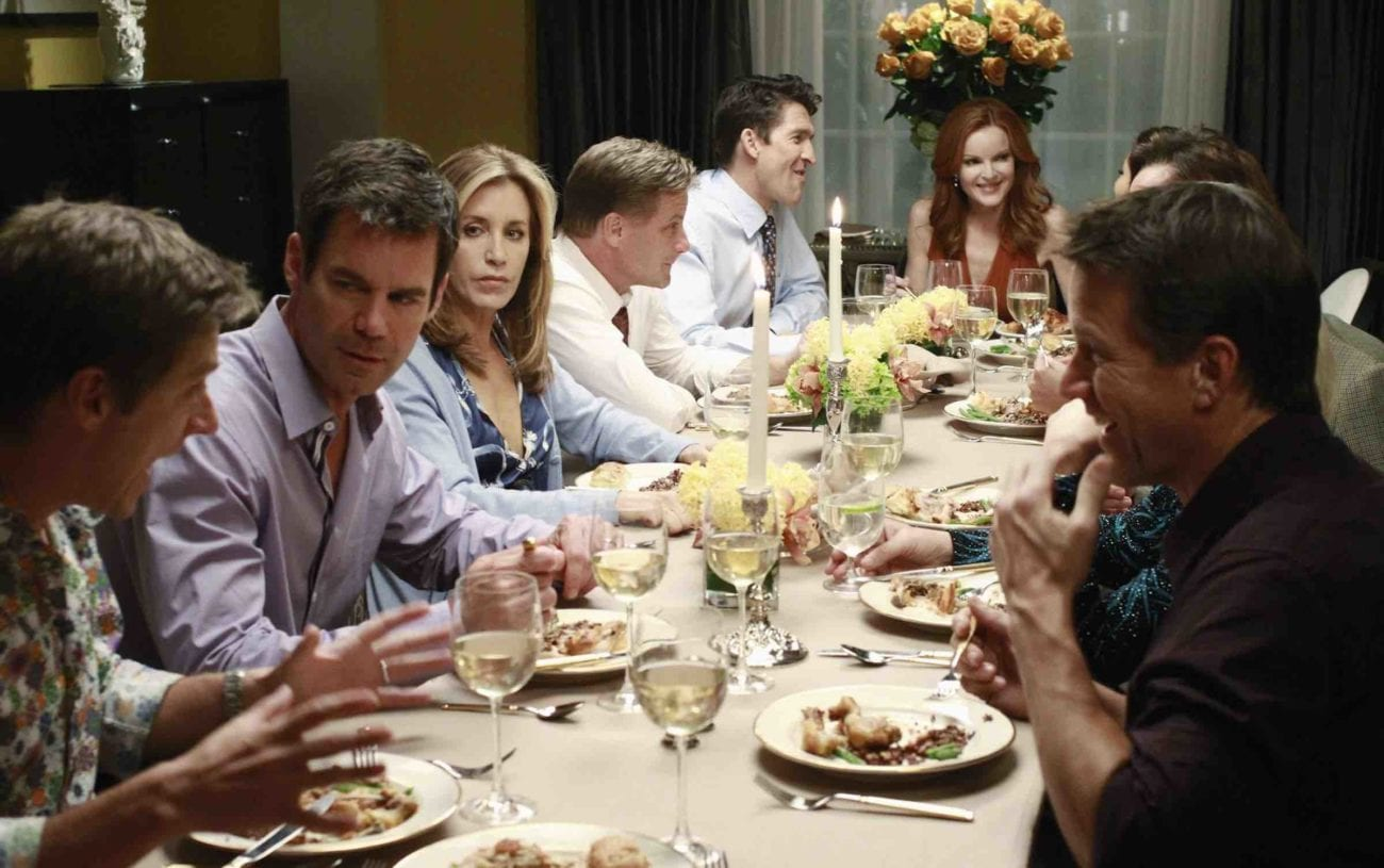 We're bringing you some of our very favorite dinner parties on television, and hoping our dinner parties never turn out like these.