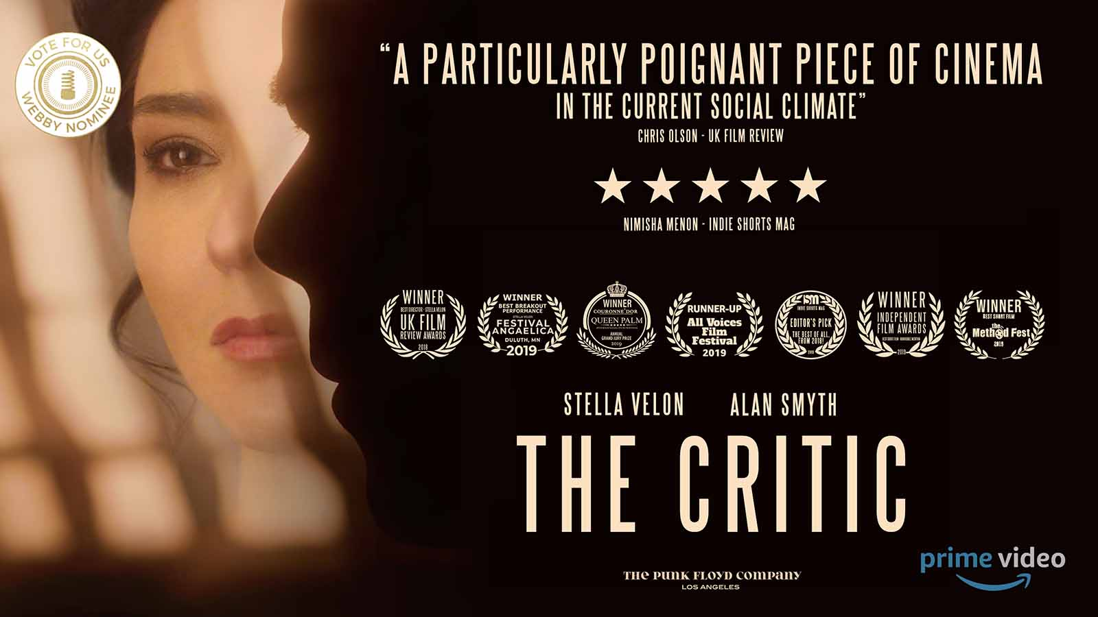 The Funk Floyd Company's first production 'The Critic' has been nominated for a Webby Award! Here's why the short deserves your vote.