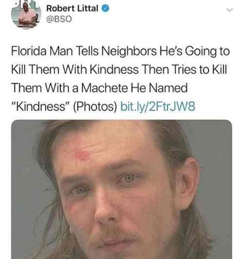 Half-Nude Florida Man Wearing Underwear Marked