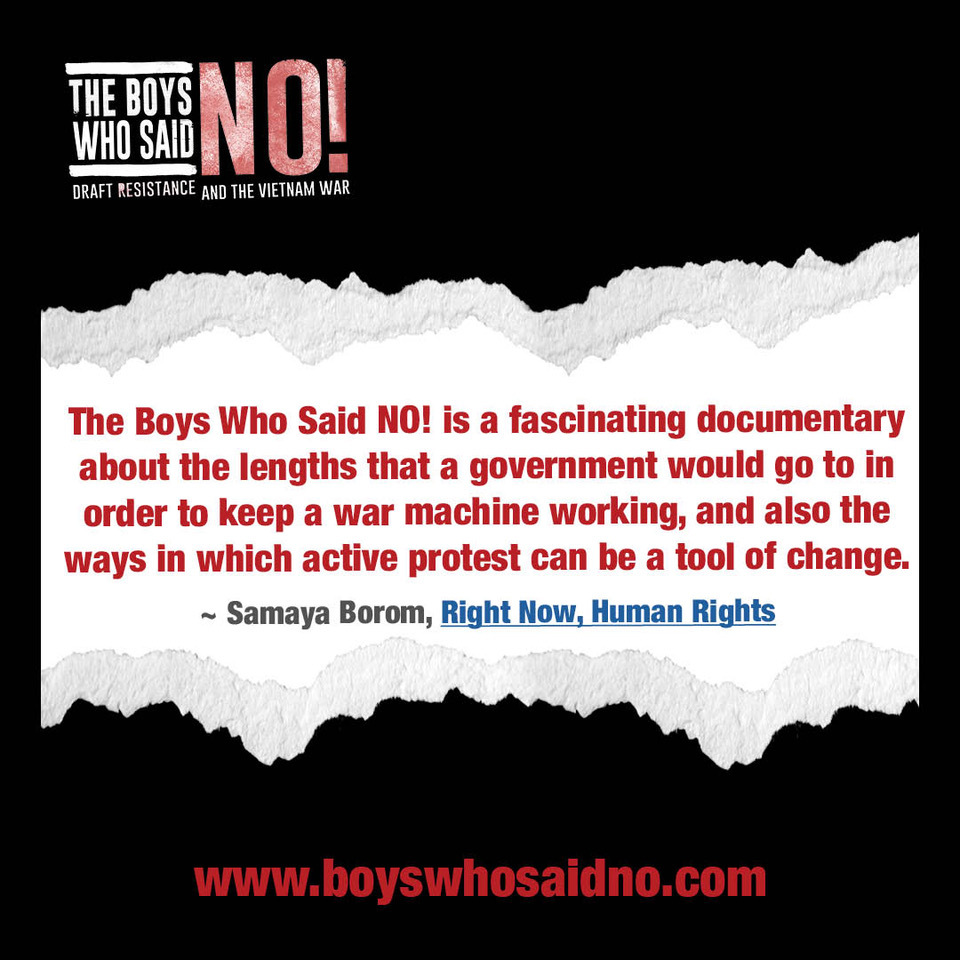 Director Judith Ehrlich has spent plenty of time covering the Vietnam War, but her new documentary 'The Boys Who Said NO!' shows a new perspective of it.