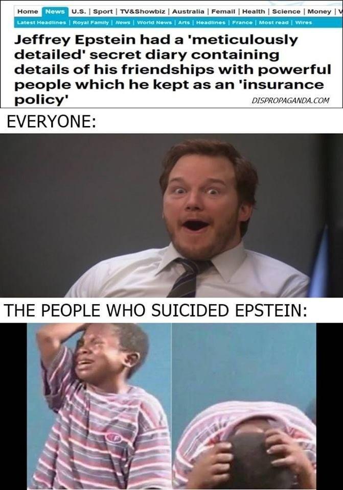 Too soon? These dark AF Jeffrey Epstein memes will make ...