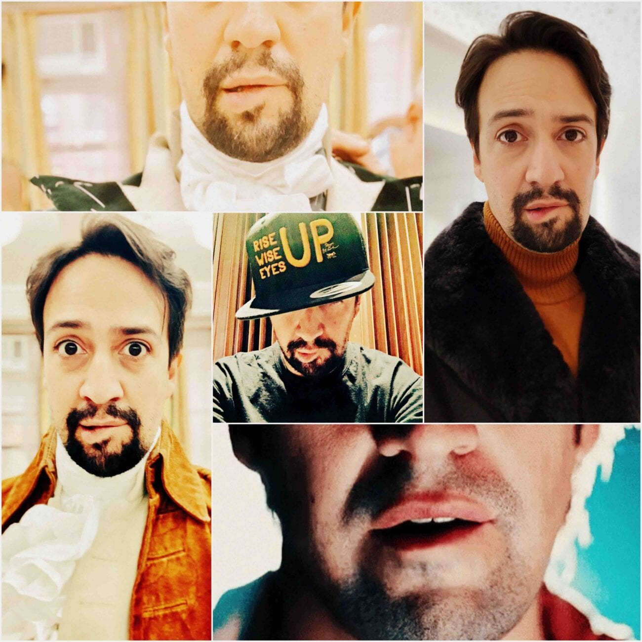 Where there's a funny or random picture of a celebrity, there's sure to be a meme. Here's the hilarious Lin Manuel-Miranda meme.
