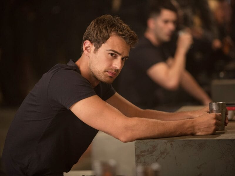 This article contains Theo James in various states of undress for research purposes only. Not at all to oggle over his hot bod.