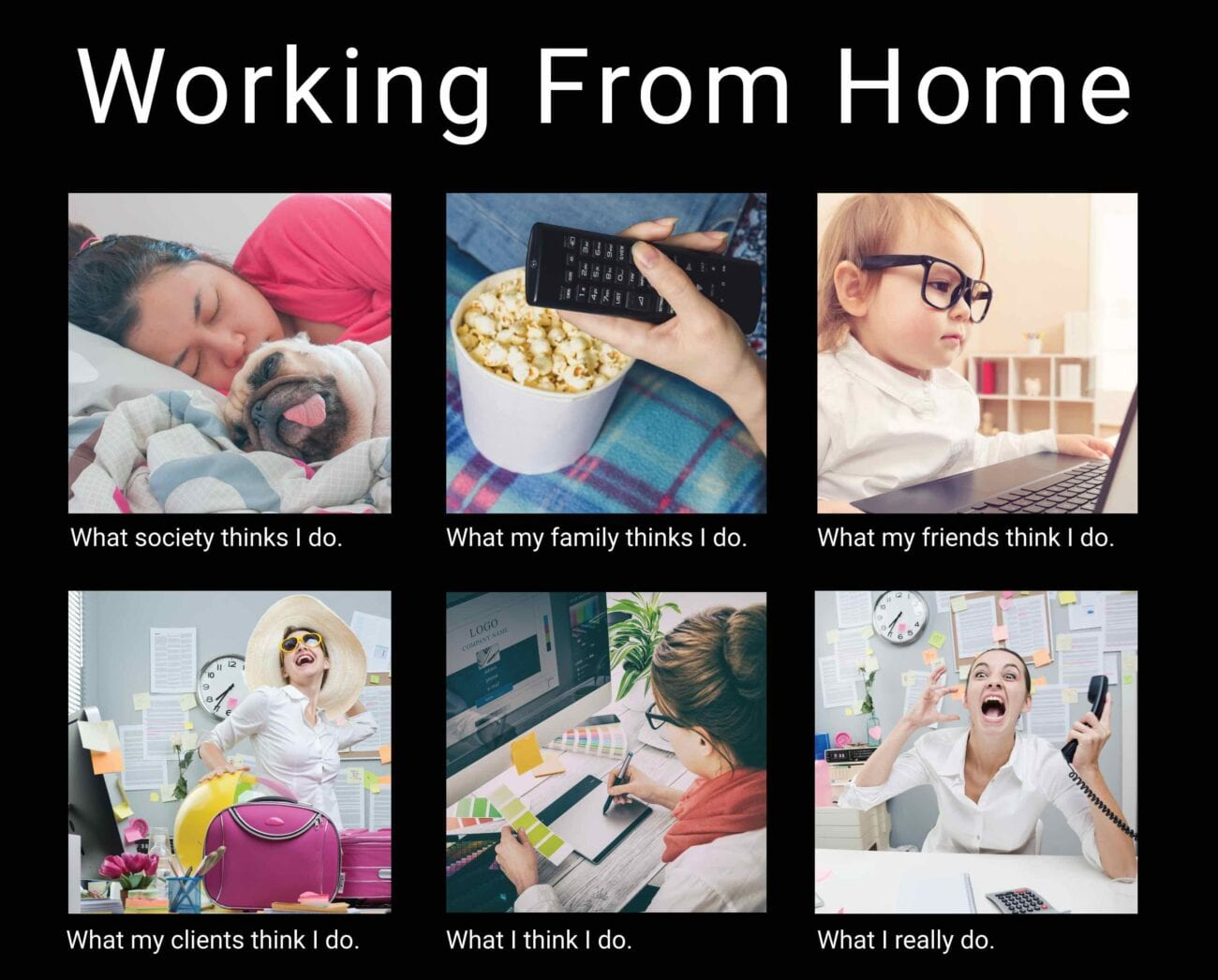 "Adding ""remote work"" to the list of our new social norms seemed like a blessing in disguise. These funny memes may just describe your experience."