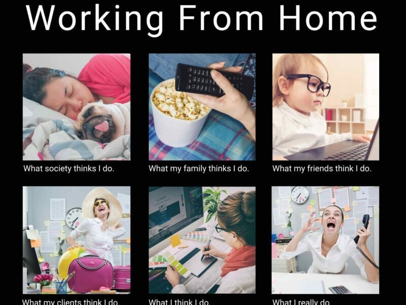 """Adding """"remote work"""" to the list of our new social norms seemed like a blessing in disguise. These funny memes may just describe your experience."""