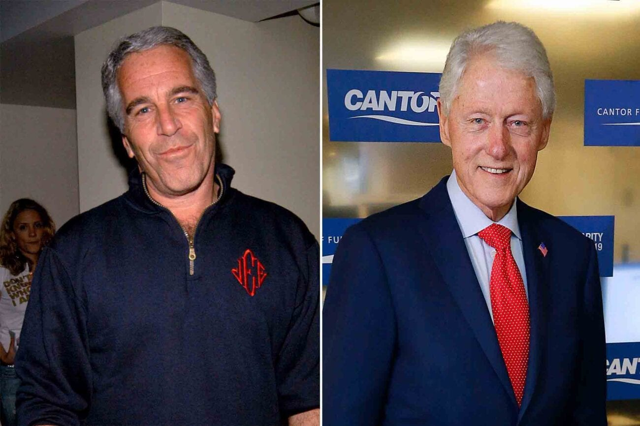 Some new images from 2002 have people raising their eyebrows regarding Jeffrey Epstein's relationship with Bill Clinton. Here's why.