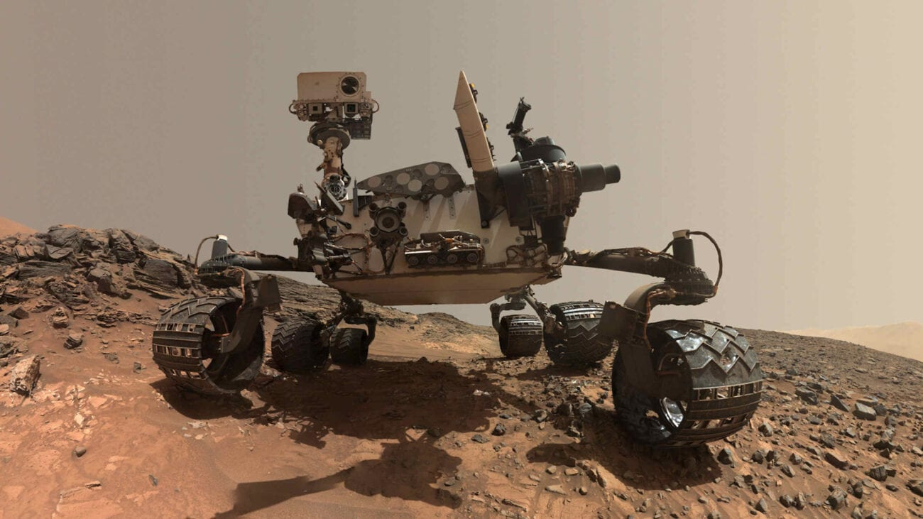 "The Mars rover sends us many striking photos of the Martian landscape. Explore the strange planet and see why ""alien experts"" think there's life on Mars."