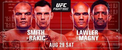 If you're in the mood for some UFC action tonight, the fight night card for the 29th is perfect for you. Here's where you can check out the event online.