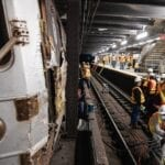 Maniacle laughter could be heard echoing on the MTA subway recently as vandals derailed the train.