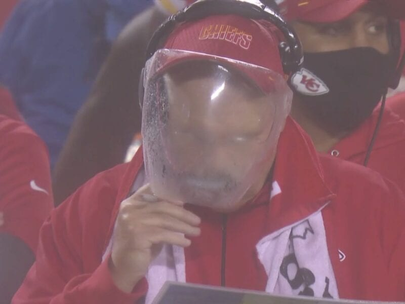 Andy Reid, the KC Chiefs' coach, had a heck of a time trying to see the field through his fogged up face mask last weekend. Here are the best memes.
