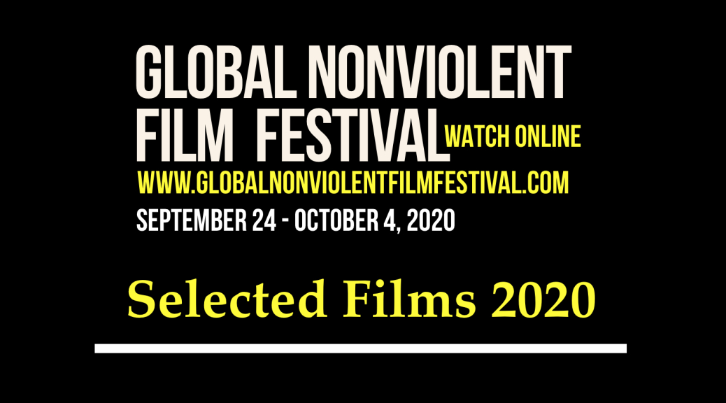 The Official Poster of the 2020 Edition of the Global Nonviolent Film Festival):