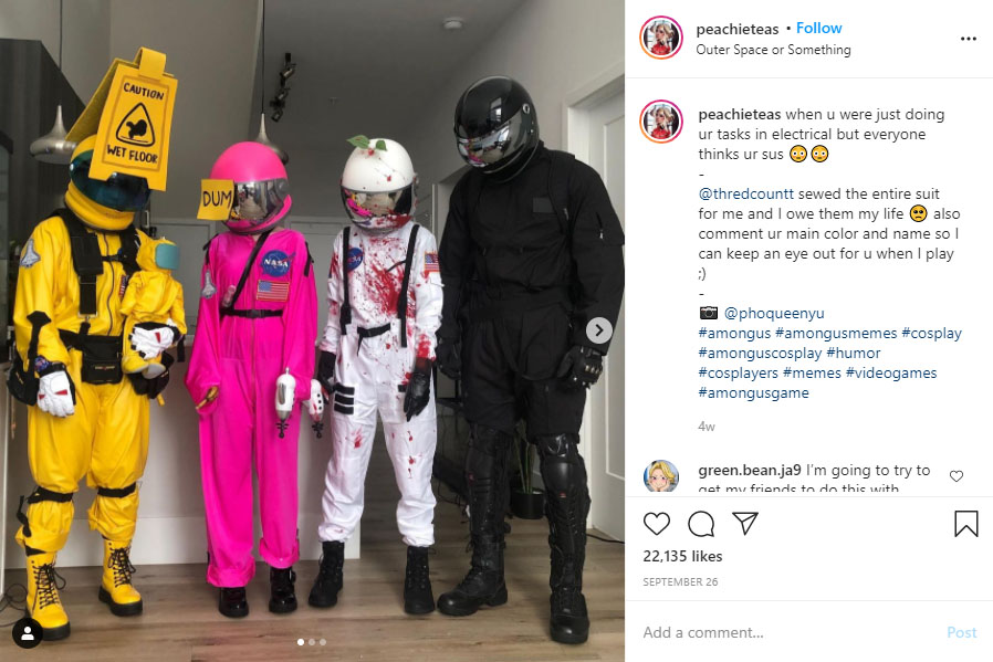 Want To Look Sus On Halloween Try These Among Us Inspired Costumes Film Daily