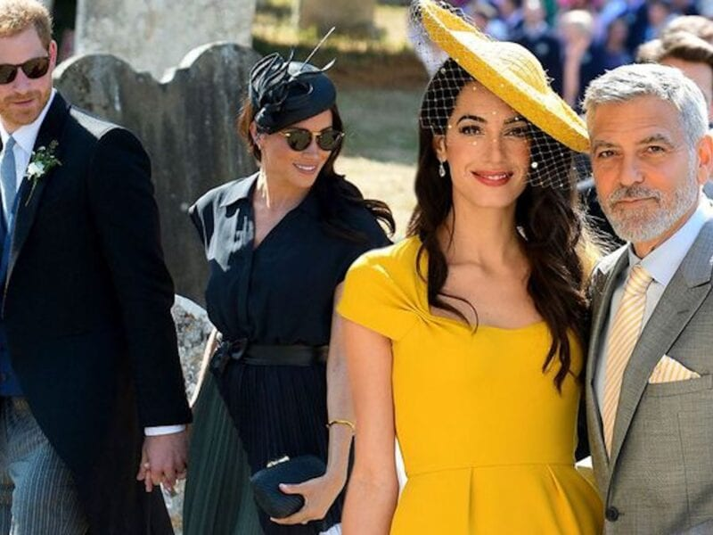 George Clooney & his wife Amal didn't know Prince Harry and Meghan Markle before their nuptials. Did they crash the wedding?