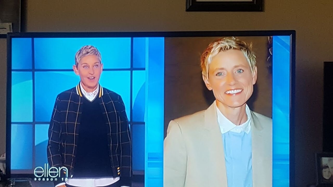 Ellen DeGeneres debuts new slicked-back hairstyle