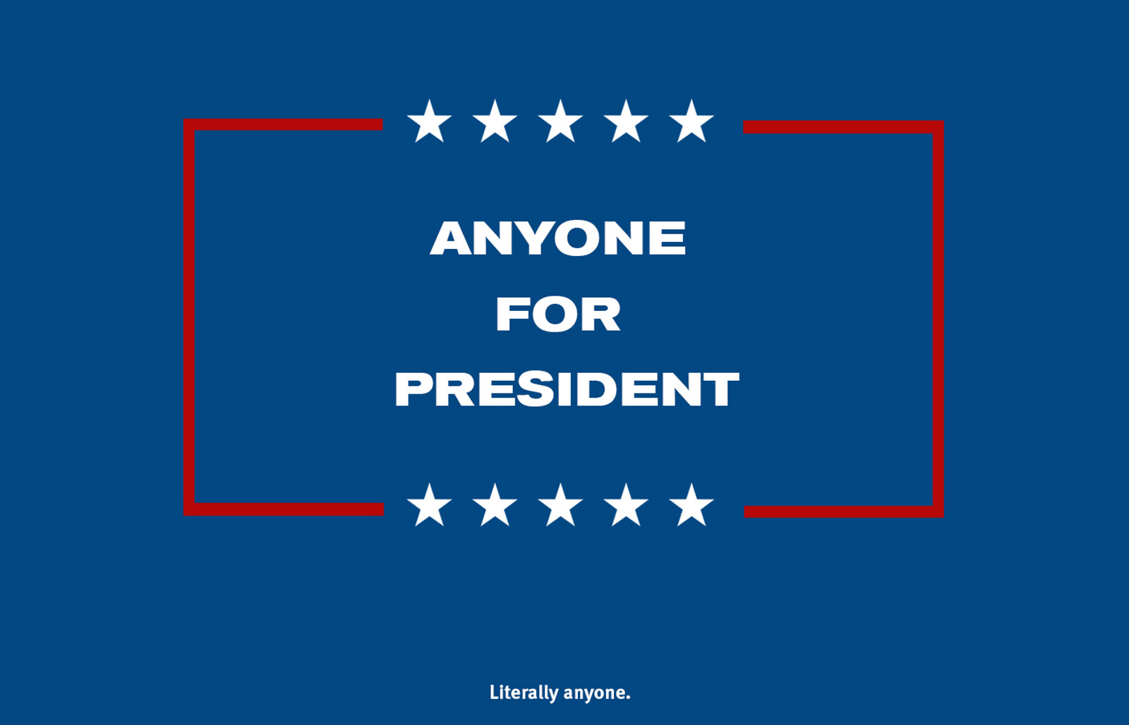Filmmaker, Matt Nye, has a new award winning short film called 'Anyone for President', which will amuse everyone no matter their political affiliation.