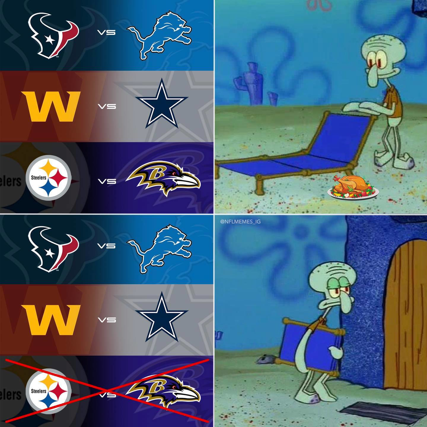The Best Nfl Thanksgiving Game Is Cut Twitter Has The Best Memes Film Daily
