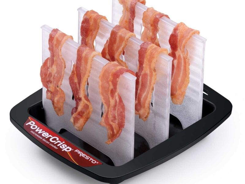 Looking to make crispy bacon with as little hassle as possible? This microwave device for sale on Amazon might be what you're looking for.