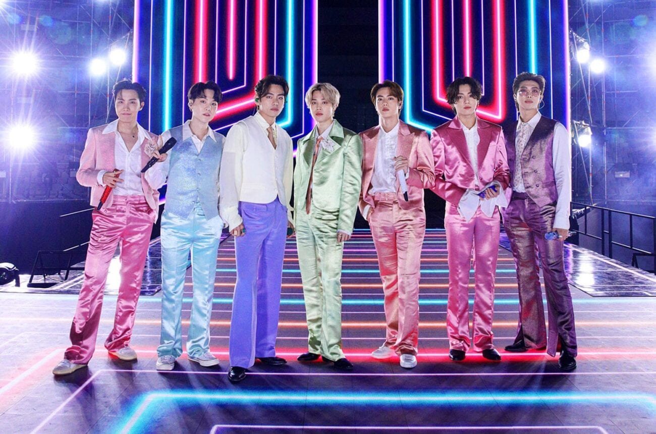 BTS was looking dynamine at the 2020 AMAs. Here's a look at their stunning outfits as they took home their glittery awards.