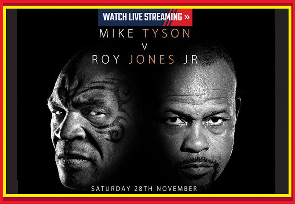 Mike Tyson and Roy Jones Jr. will lace 'em up once again when they square off today. Here's how you can watch the full fight.