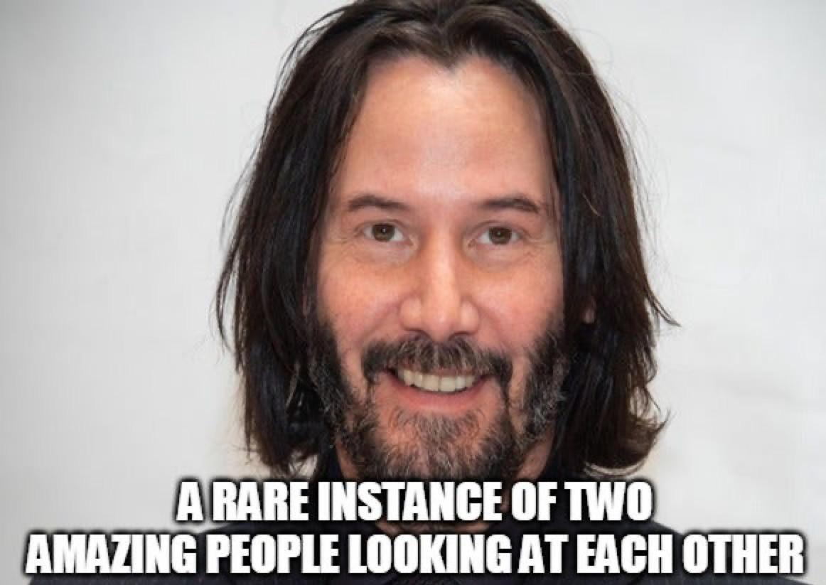Need a little pick-me-up? Peruse these Keanu Reeves memes and your day is certain to become brighter.