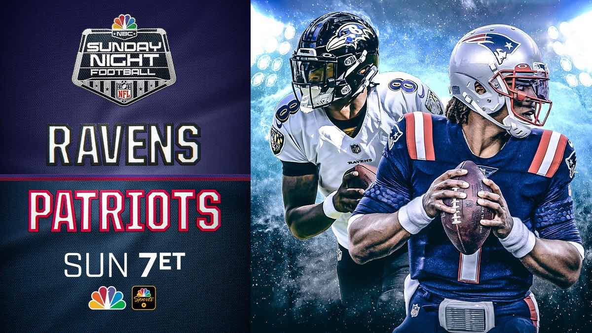 The Patriots and the Ravens face off in Sunday Night Football this week. Here's where you can watch an NFL live stream online for free.